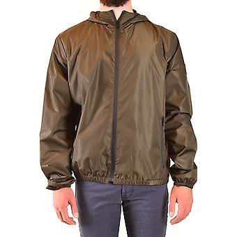 Fay Ezbc035077 Men's Green Nylon Outerwear Jacket