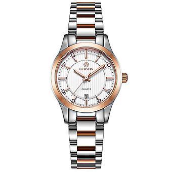 OCHSTIN LQ016B ارتفع الذهبي حالة الإناث ساعة اليد نمط حركة الكوارتز