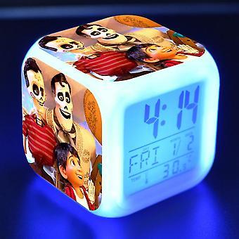 Färgglada multifunktionella LED Barn' s väckarklocka -Coco #21