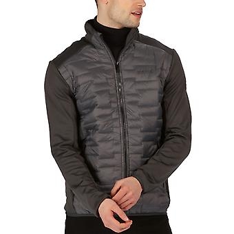 Regatta Mens Clumber Hybrid Insulated Quilted Walking Jacket - Magnet Ash