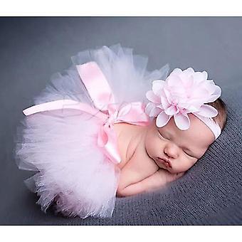 Dívky Baby Tutu Sukně, Kojenecké krátké dortové sukně Princezna Čelenka Foto