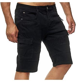 Mens Cargo Jeans Shorts Summer Pants Denim Pocket 3/4 Trousers Casual Biker Look