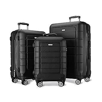 3 Piece Set Luggage With Tsa Lock Spinner / Expandable Suitcase Pc+abs Suitcase