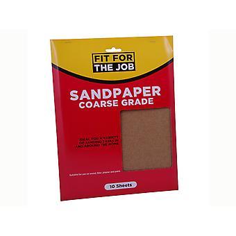 Rodo Fit for the Job Sandpaper 23 x 28cm Coarse x 10 FFJASP10C