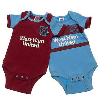 West Ham United FC Baby Bodysuit (Pack of 2)