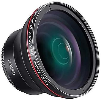 58MM 0.43x Professional HD Wide Angle Lens (Macro Portion) for Canon EOS Rebel