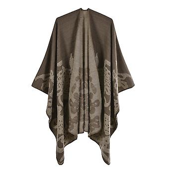 Women's Autumn And Winter Plus Size Butterfly Khaki Warm Scarf Blanket Shawl