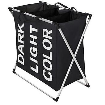 3-box laundry basket 130L Black