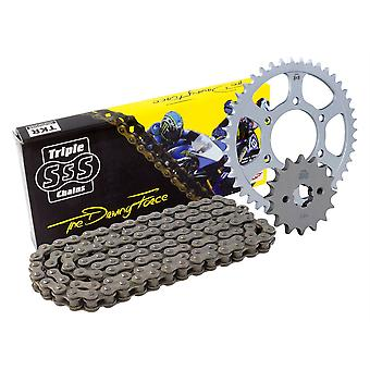 Triple S 520 O-Ring Ketting en Sprocket Kit Black Ducati Monster 696 Set 2012-13