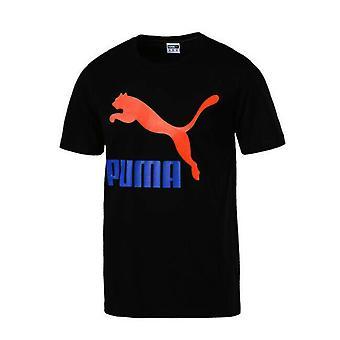 Puma Classic Męskie Logo Grafika Koszulka Casual Top T-Shirt Czarny 576321 66 A57B