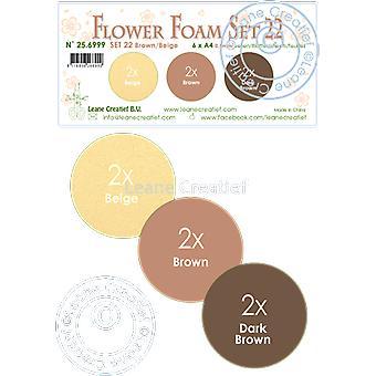 Leane Creatief Flower Foam A4 Set 22 Brown-Beige