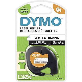 DYMO LT Etikettierband Bandfarbe: Weiß Schriftfarbe: Schwarz 12 mm 2 m