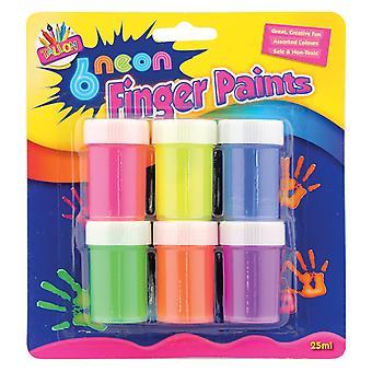 Neonový prstový hrnec (balení po 6) 1 neonových barvách