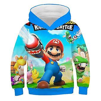 Fashion 3d Print Soft Child Hoodie Cartoon Clothing Hooded Sweatshirt