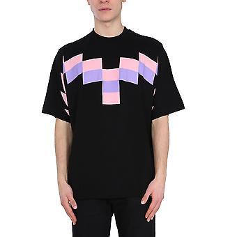 Marcelo Burlon Cmaa054r21jer0031030 Men's Black Cotton T-shirt
