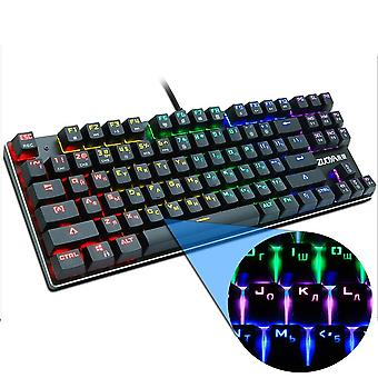 Interruttore meccanico per tastiera da gioco 87key Ru/us, Anti-ghosting Rgb / Mix Backlit