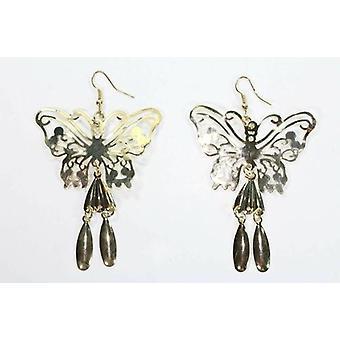 Boucles d'oreilles papillon d'or