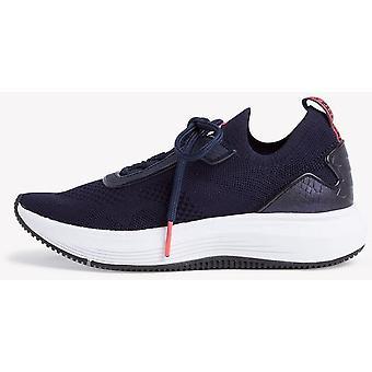 Granatowe płaskie buty