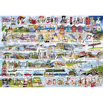 Gibsons Jigsaw Puzzle Cream Teas & Queuing 2000 Pieces