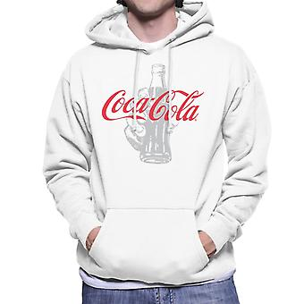 Coca Cola Bottle Its The Real Thing Men's Hooded Sweatshirt