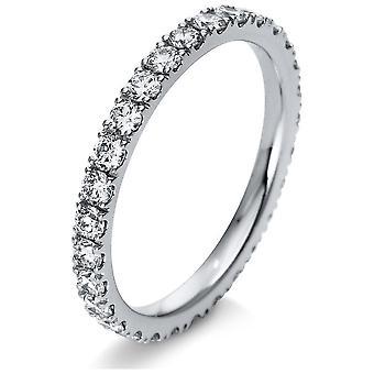 טבעת אינסוף יצירת לונה מספר חיתוך אבן 1R908W854-2 - רוחב טבעת: 54