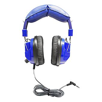 Kids Blue, Deluxe Stereo Headphone With 3.5Mm Plug & Volume Control