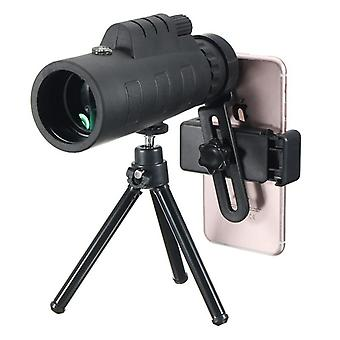 IPRee 12X50 Telescope Universal Camera Clip Aluminum Alloy Tripod High Power Night Light Monocular