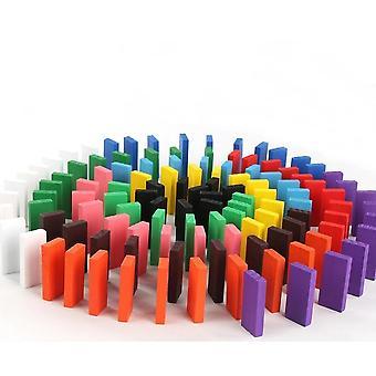 Wooden Colored Domino Blocks Kit