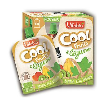 Cool Fruits and Vegetables Banana Kiwi from Aquitaine Spinach 4 units of 90g