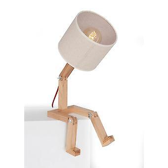 Lampada da Tavolo Omino Colore Rovere in Legno, PVC, L15xP15xA45 cm