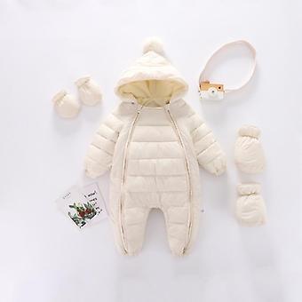 Neugeborene Baby Overall Hooded Plus samt warm Schneeanzug Overalls Strampler
