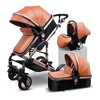 Landscape Baby Stroller, Sleeping Basket, Carriage, Newborn Pram With Car Seat