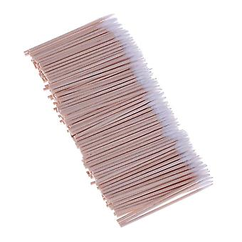300pcs Useful Wood Handle Cotton, Head Cotton Eyebrow Tattoo Makeup Dedicated