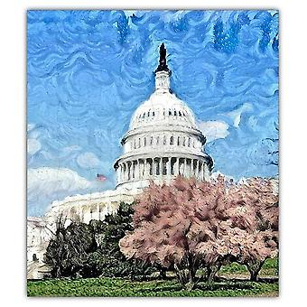 U.s. Capitol Oil Painting Jigsaw Puzzle #6806