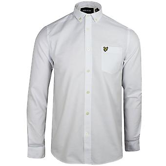 Lyle & scott men's white oxford shirt