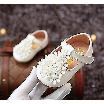 jenter blomster perle baby pjokk sko