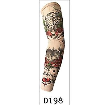 Fake Tattoo Arm Sleeve Straight Style Fashion Design Unisex Uv Protection