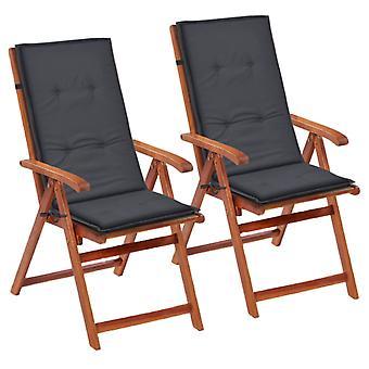 vidaXL garden chair edition Hochlehner 2 pezzi. antracite 120 x 50 x 3 cm