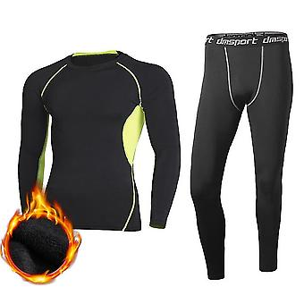 Winter Thermal Underwear Pant+clothing, Men Quick Dry, Warm Long Johns Set,