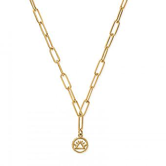 ChloBo Sterling Silber Gold vergoldet Link Kette Feuer Halskette GNLC3111