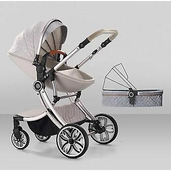 2 In 1 Baby Stroller, High Landscape Carriage Two Way Newborn Car