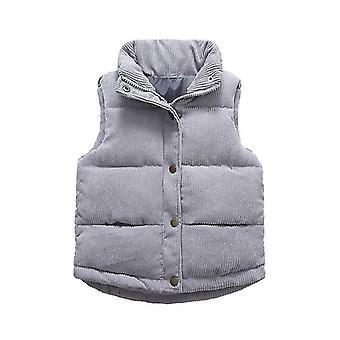 Autumn Warm Thicken Waistcoat, Kids Outerwear Jackets
