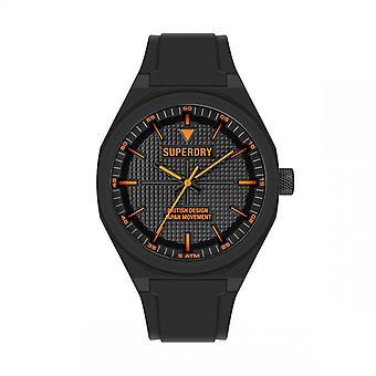 Herreur Superdry SYG324B - Sort silikone armbånd