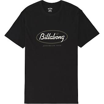 Billabong Men's Camiseta - State Beach negro