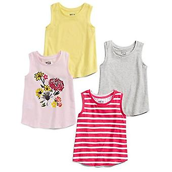 Brand - Spotted Zebra Big Girls' 4-Pack Sleeveless Tank Tops, Floral, Large (10)