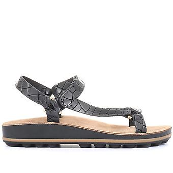 Jones Bootmaker Womens Silver Beach Flat Sandals
