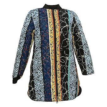 LOGO By Lori Goldstein Women's Reversible Quilted Jacket Black A370305