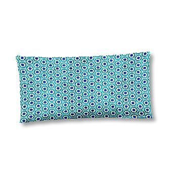 pillow cover 40 x 80 cm satin/cotton light blue