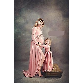 Pregnant Women Maxi Dress, Mother Daughter Match