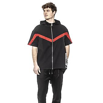 Les Hommes Black- Red- White Sweater - LE1395282